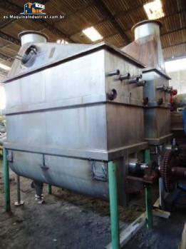 Mezclador horizontal de acero inoxidable industrial
