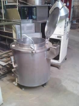 Roto-50 litros capacidad de acero inoxidable para cocina industrial