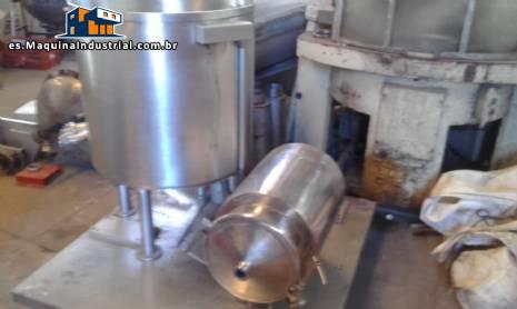 Mezclador en acero inoxidable con relleno de galleta tornillo y bomba de transferencia