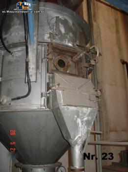 Lecho fluidizado secador de sólidos, polvos o granulados