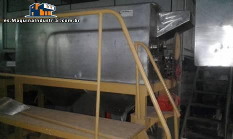 Pelador de patatas continuo industrial de acero inoxidable