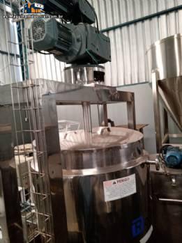 Tanque reactor abierto para mezclar y homogeneizar productos