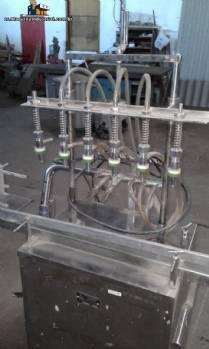 Empaquetador lineal con 6 boquillas de acero inoxidable Amard